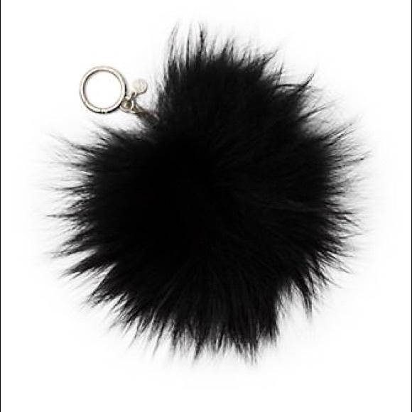 7049d5de61b Authentic MK fur Pom Pom bag charm black